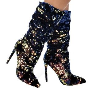 Liliana Xaya-19C Sequins Embellished Booties